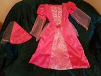 FANCY DRESS - GIRLS BHS MEDIEVAL STYLE PRINCESS DRESS AND HAT 6-8 YEARS