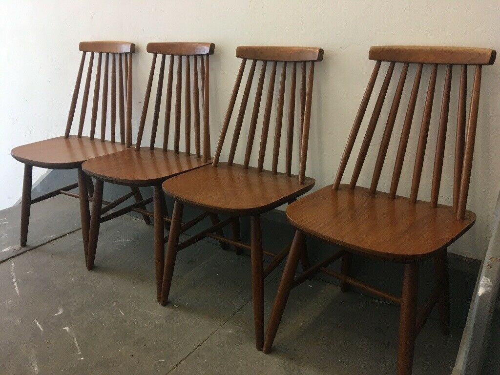 Awesome 4 X Ercol Style Dining Chairs In Teak In Ilkley West Yorkshire Gumtree Alphanode Cool Chair Designs And Ideas Alphanodeonline