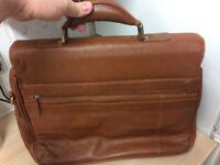 John Lewis - Mens Tan Leather Briefcase / Laptop Bag