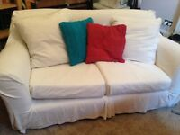 Ikea white 2 seater sofa