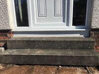 Steps ..x2 concrete steps free to uplift