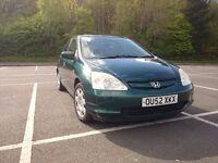 Honda Civic VII, 1,6, 1.6 petrol, green, wonderful, 2002