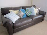 Brown leather sofa - excellent condition