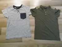 2 X BOYS SHORT SLEEVED TOPS 5-6 YEARS FROM GEORGE