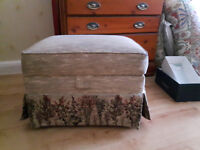 Fabric Footstool / Ottoman with storage