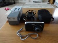 Panasonic Lumix DMC-S2 compact digital camera with charger, USB lead, memory card and case