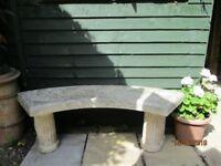 Stone Garden Bench in vgc