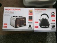 **NEW** Morphy Richards Kettle+Toaster. Black/Rose Gold from the Ascents Collection