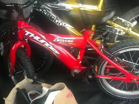 Boys red bike