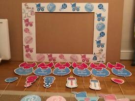 Baby Shower Unisex Complete Prop Set & Photo Frame