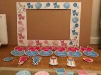 Baby Shower Unisex Complete Prop Set & Photo Frame