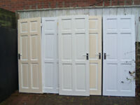 Five painted internal wooden doors