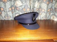 Chauffuer's Hat in Navy Blue, size 57-7. As new condition, worn once.