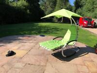 Garden furniture helicopter style rocking sun lounger