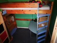 Stompa Uno High Sleeper bed + furniture