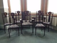 Beautiful Art Deco Antique Chairs and Love Seat