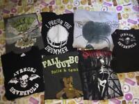 Hoodie & shirt bundle - My Chemical Romance, Green Day, various band merch - unisex