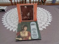 PUCCINI TUSCA,EMI vinyl record set with booklet of all music,excellent condition
