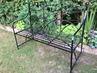 Wrought Iron Garden Bench Or patio furniture seat