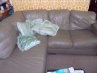 Large corner leather sofa