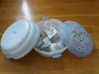 Avent baby bottle pack with steriliser