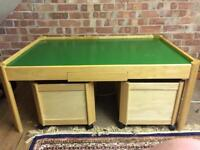 Children's play table and storage