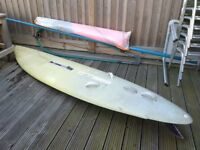 Wind surf board and sail