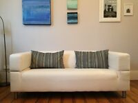 Ikea Two Seater Sofa with Denim Covers
