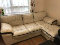 Italian Leather Right Handed Corner Sofa