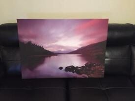 Large purple canvas picture
