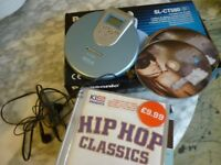 panasonic mini portable discman with headphones and fifteen english songs cd,lovely collection,£9..