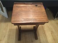 Old school desk, in good condition, collection only.