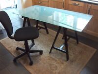 IKEA glass top desk in excellent condition SOLD