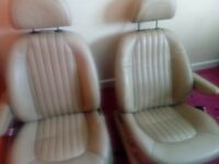 Peugeot 406 full set of cream leather seats with electric motors and headrests