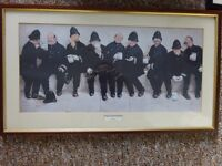 Nice Framed Print of Nine Pints of The Law By Lawson Wood- In Good Condition