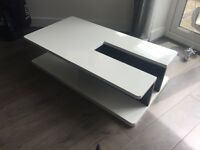 Gloss White Modern Coffee Table for sale