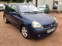 2002 RENAULT CLIO DYNAMIQUE 1.2 LOW INSURANCE GROUP! 1 YEAR MOT!!