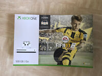 Brand New Xbox One S with Fifa 17 + Two games + Play & Charge kit
