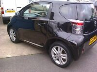 TOYOTA IQ 3 VVT-i 1.3 60 REG BLACK. ONE OWNER LOW MILEAGE LEATHER.