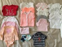 Newborn Girls clothing- all Carter's, (except elf shirt-nutmeg), size newborn, excellent condition