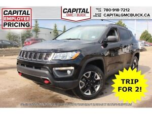 2017 Jeep Compass Trailhawk 4WD*NAV*Dual Sunroof*Heated Leather
