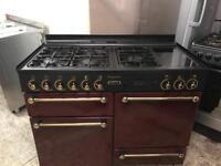 Red range master gas cooker 110cm