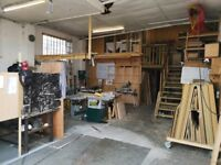 Studio/workshop - bench space available from October