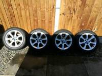 """Bmw f30 f31 3 series 17"""" alloy wheels and tyres"""