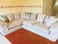 Gorgeous Corner Sofa with Footstool