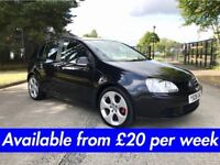 Volkswagen Golf Match (Leon Jetta Passat A3 308 Astra) £20 per week