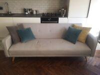 Sofa Bed - Grey fabric.