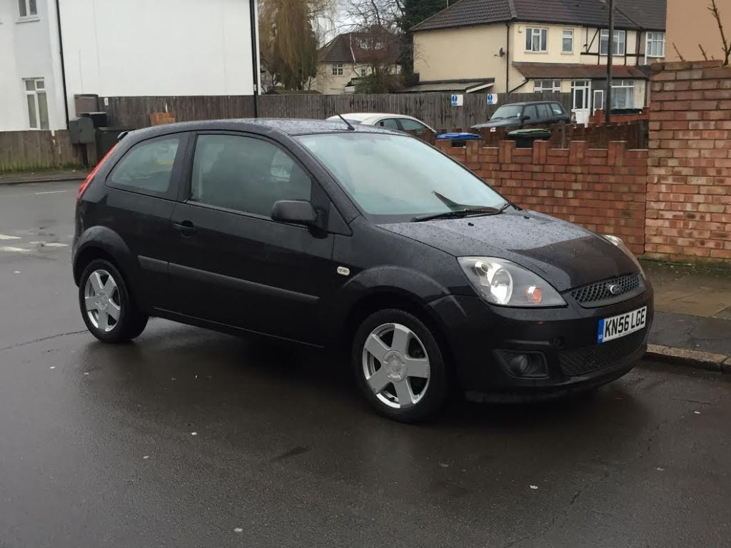 2006 ford fiesta 1 2 black 3 door fsh new mot pas alloys hpi clear in edmonton london. Black Bedroom Furniture Sets. Home Design Ideas
