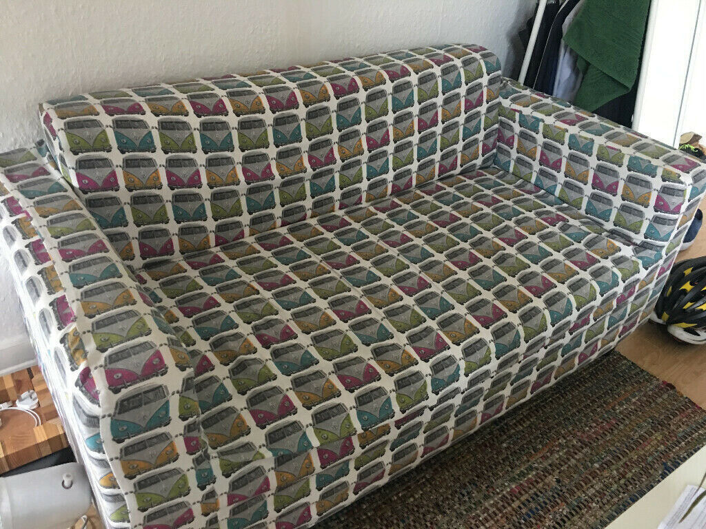 Funky Vw Cars Cover 2 Seater Sofa