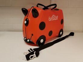 Harvey the Ladybird Ladybug Trunki Ride On Hand Luggage Pull Along Kids Suitcase